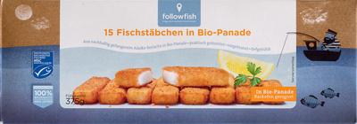 15 Fischstäbchen in Bio-Panade - Produkt