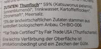 Thunfisch-Aufstrich Natur - Ingrédients - de