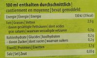 Boisson au soja - Nährwertangaben - de