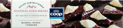 Edler Zartbitterer Schokoladen-Riegel mit weißen Schokogipfeln - Product