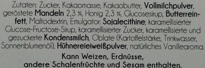 Edler Zartbitterer Schokoladen-Riegel mit weißen Schokogipfeln - Ingredients