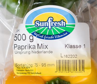 Paprika Mix Klasse 1 - Produkt