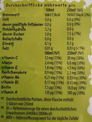 Punica Multivitamin 17+4 - Voedingswaarden - de
