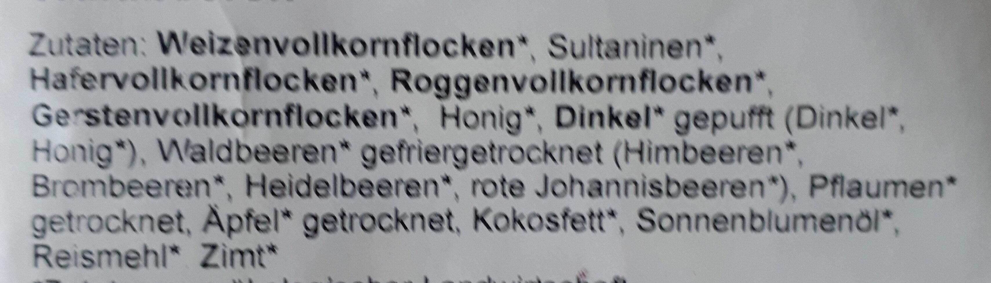 Bio Waldbeeren Müsli - Ingredients