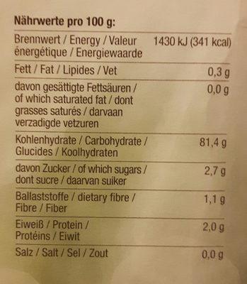 Farine sans gluten poensgen - Nutrition facts - de
