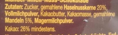 Ma-Mi-Nu Schokolade - Ingredients