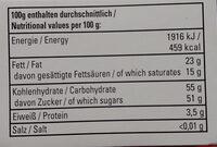 Chocolate Fruits - Nutrition facts - de