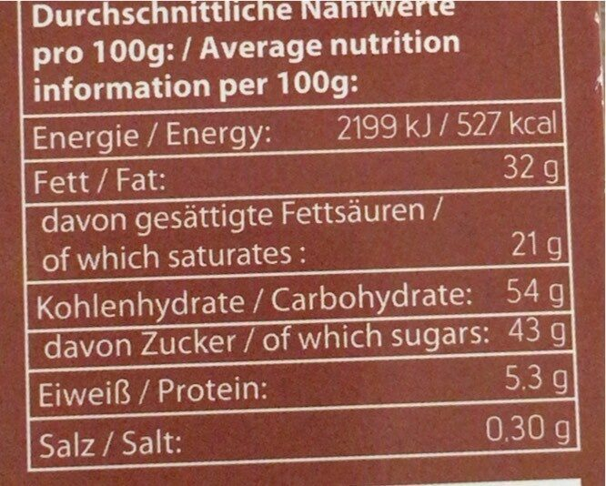 Original Cookie Dough Half-Baked Brownie - Valori nutrizionali - de