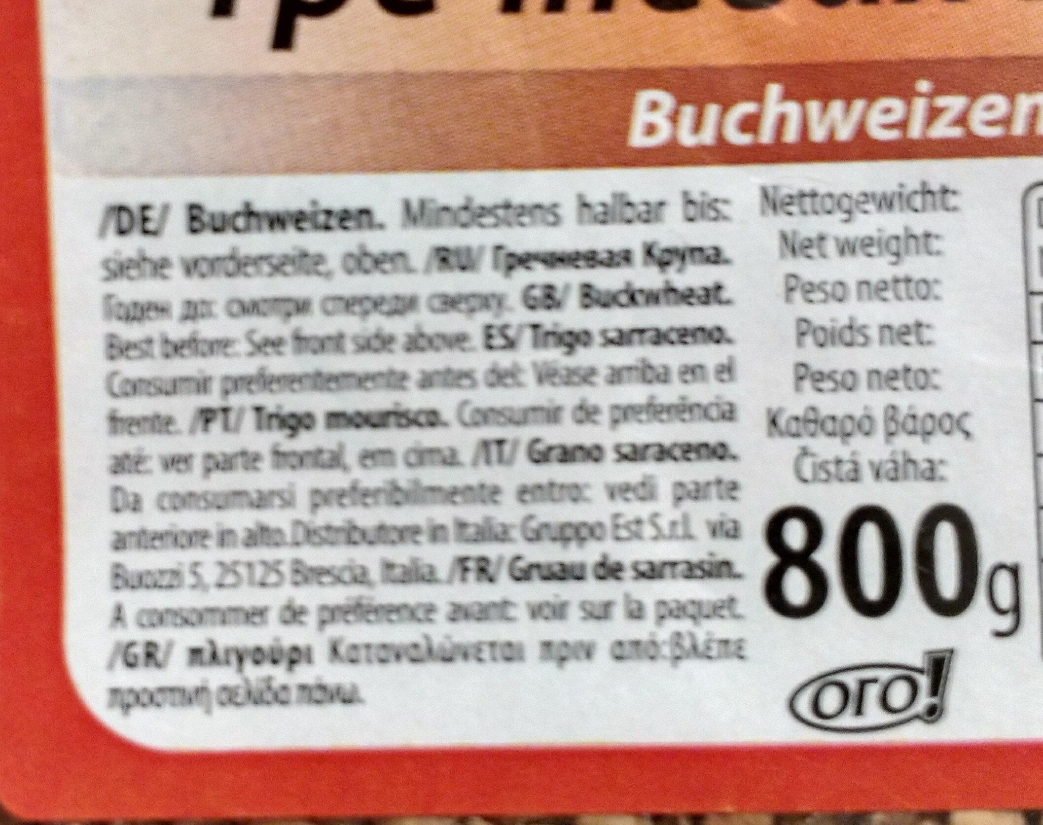 Buchweizen - Inhaltsstoffe - de