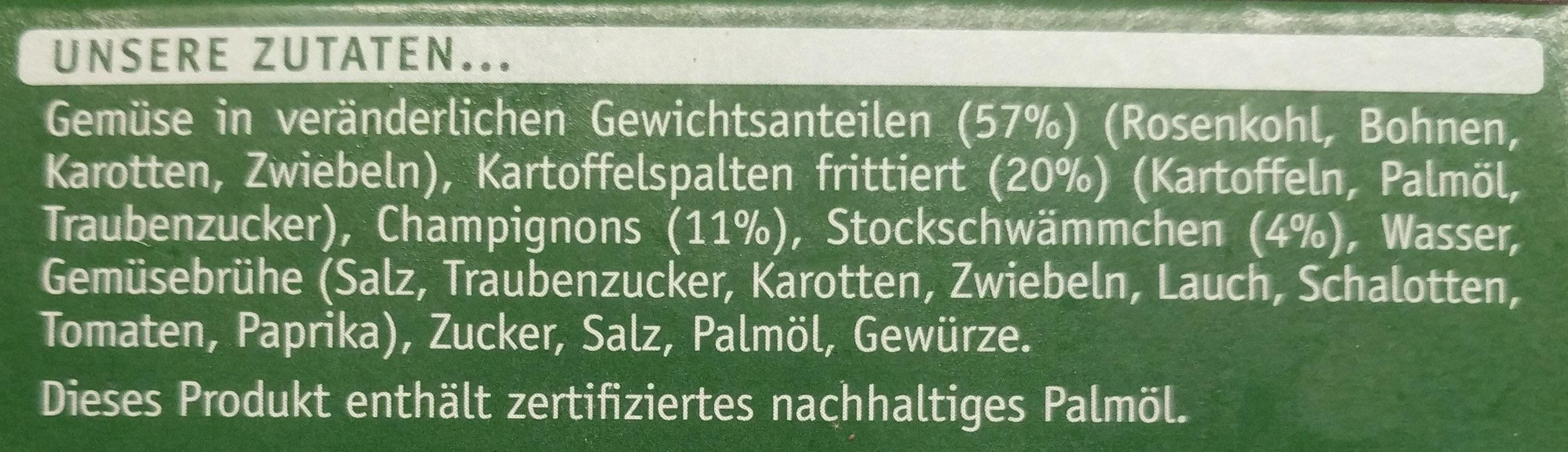 Gemüse-Ideen Gemüse-Pilz Pfanne - Ingredienti - de