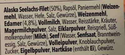 Goldknusper-Filets Käse-Kräuter - Ingrediënten - de