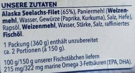 12 Omega 3 Fischstäbchen - Ingrédients - de