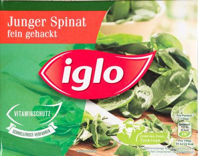 Junger Spinat fein gehackt - Produkt