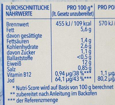 Filegro Kräuter Sauce - Informations nutritionnelles - de