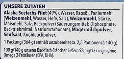 13 Backfisch-Stäbchen - Ingredienti - de