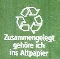 Gartenerbsen - Wiederverwertungsanweisungen und/oder Verpackungsinformationen - de