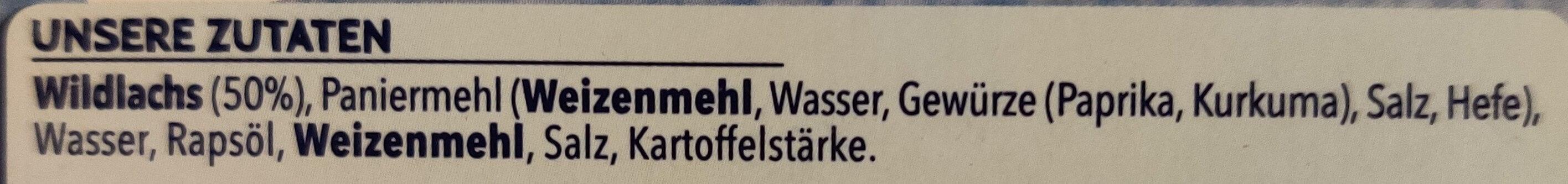 8 Lach-Stäbchen - Ingredients - en
