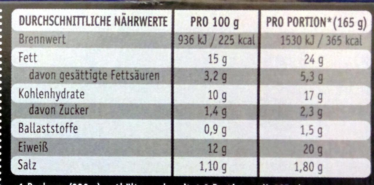 Gourmet Schlemmer-Filet Wildlachs à la Bordelaise - Informations nutritionnelles