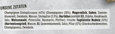 Tagliatelle Pilz-Pfanne - Ingredients
