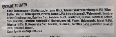 Tortellini Käse Sahnesauce - Ingredients - de