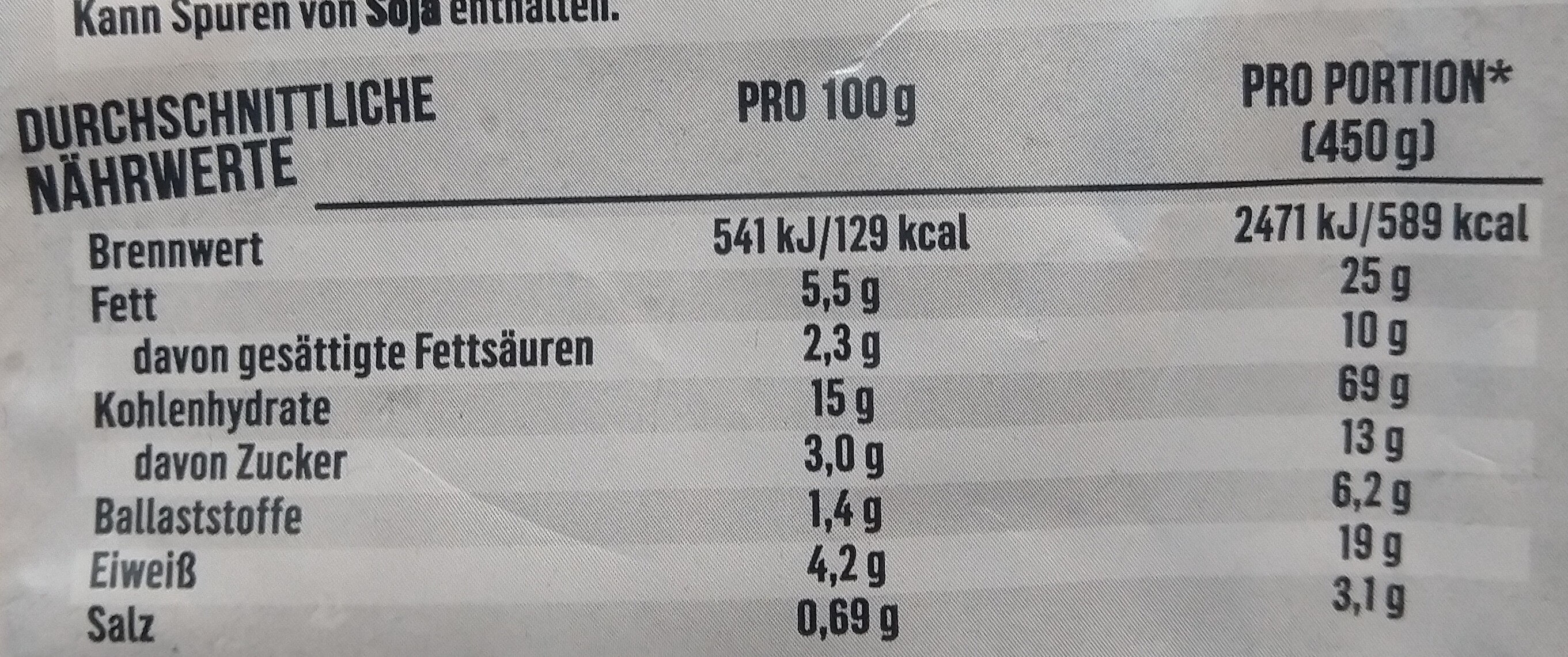 Tortellini Käse Sahnesauce - Nutrition facts - de