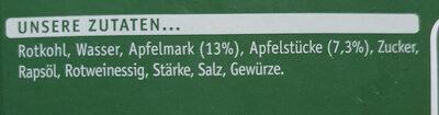 Apfelrotkohl - Ingrédients - de