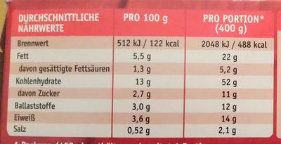 Dinkel-Risotto mit Tomaten - Informations nutritionnelles - de