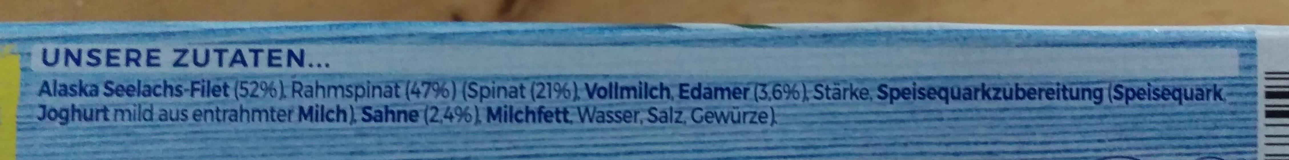 Schlemmer-Filet Rahmspinat - Der mit dem Blubb - Ingrédients - de