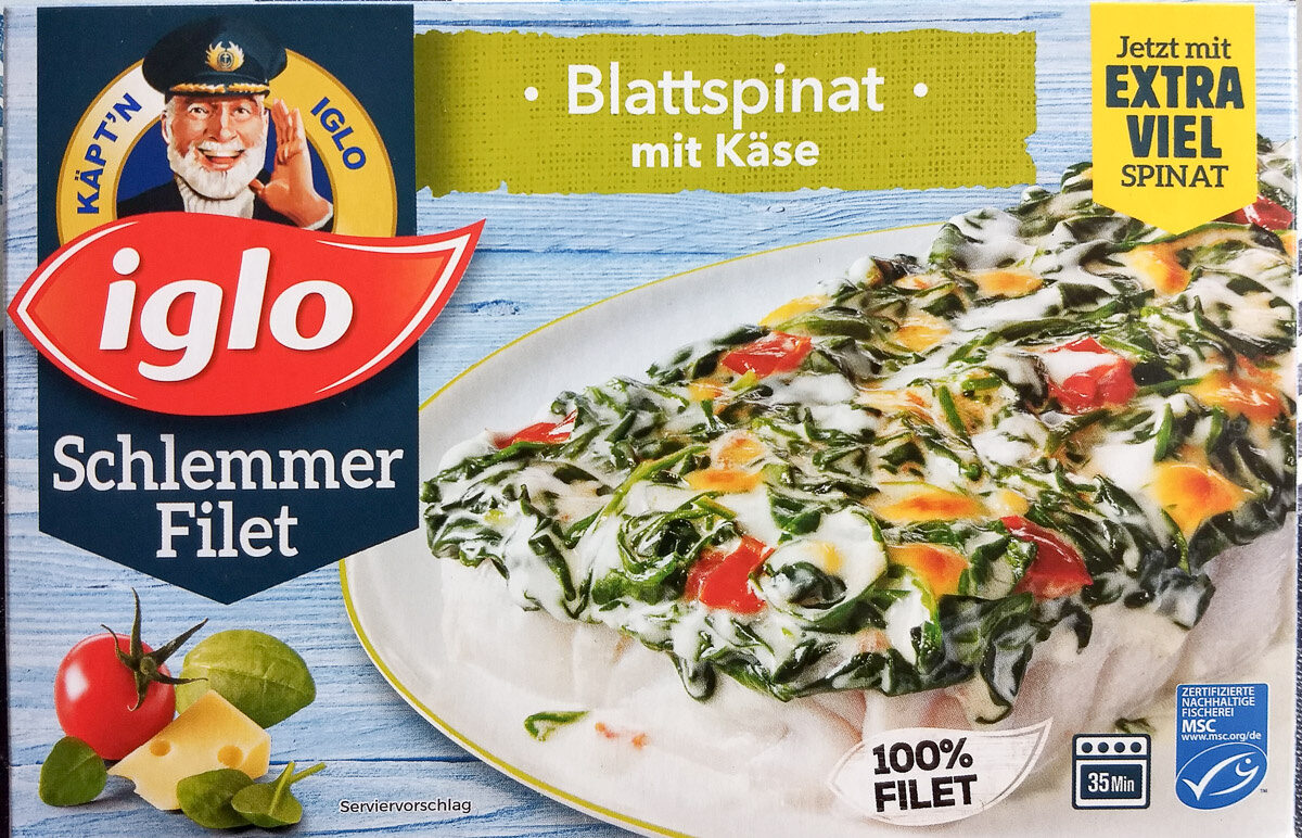 Schlemmer Filet Blattspinat mit Käse - Product