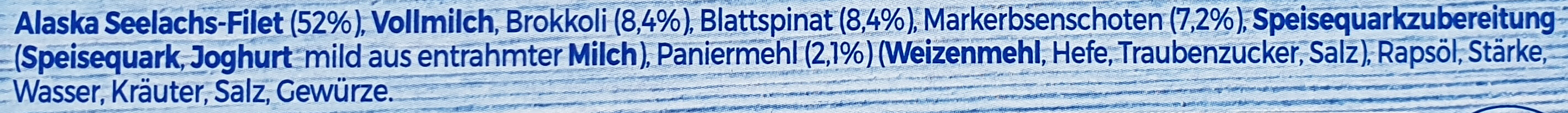 Schlemmer-Filet Grünes Gemüse - Brokkoli, Blattspinat, Erbenschoten - Ingrédients - de