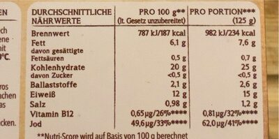 Filegro Sauerteig Panade - Nutrition facts - de