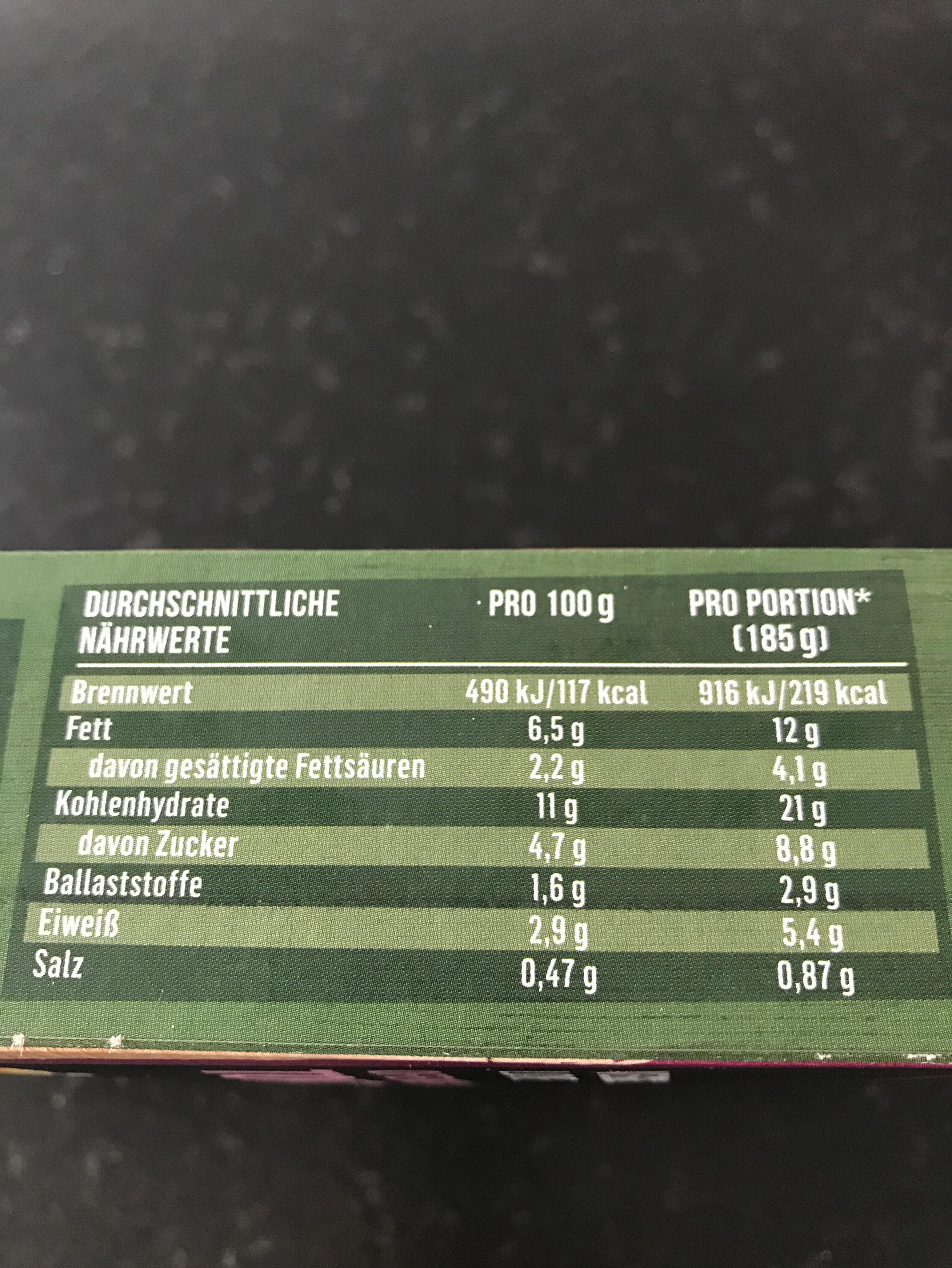 Veggie Ofen Gemüse Tortilla - Ingredients - de