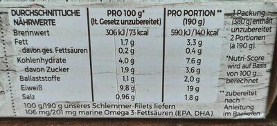 Schlemmer-Filet Sonniges Gemüse mit getrockneten Tomaten - Voedingswaarden - de