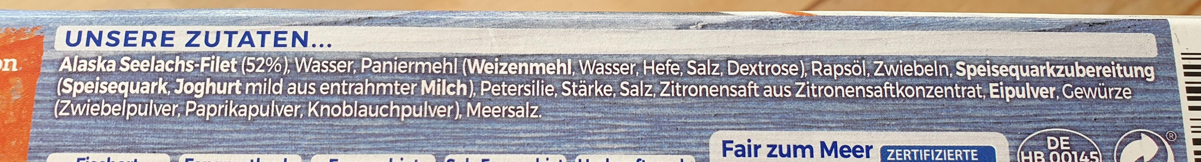 Schlemmerfilet à la Bordelaise Knusprig Kross - Ingrédients - de