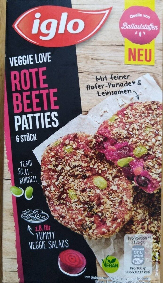Veggie Love Rote Beete Patties - Product - de