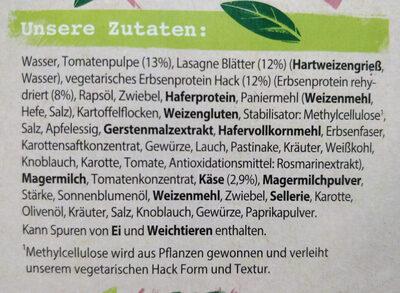 Lasagne mit vegetarischem Hack - Ingrediënten - de