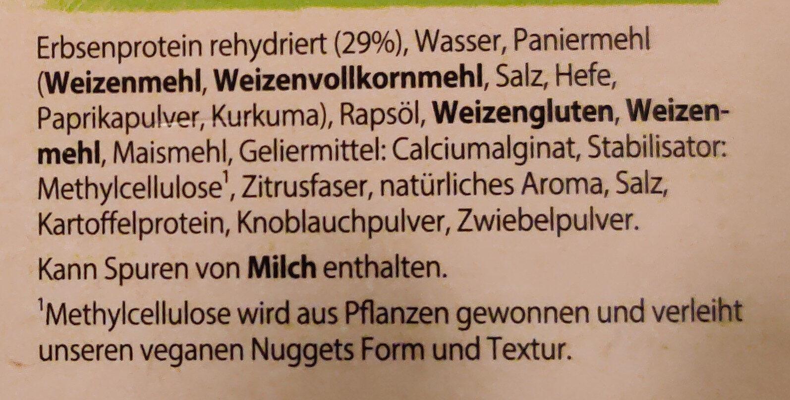 vegane chicken nuggets - Ingredienti - de