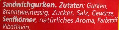 Original Spreewälder Sandwichgurken - Ingrédients - de