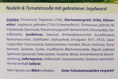 Genießerküche Nudeln & Tomatensoße - Ingrediënten