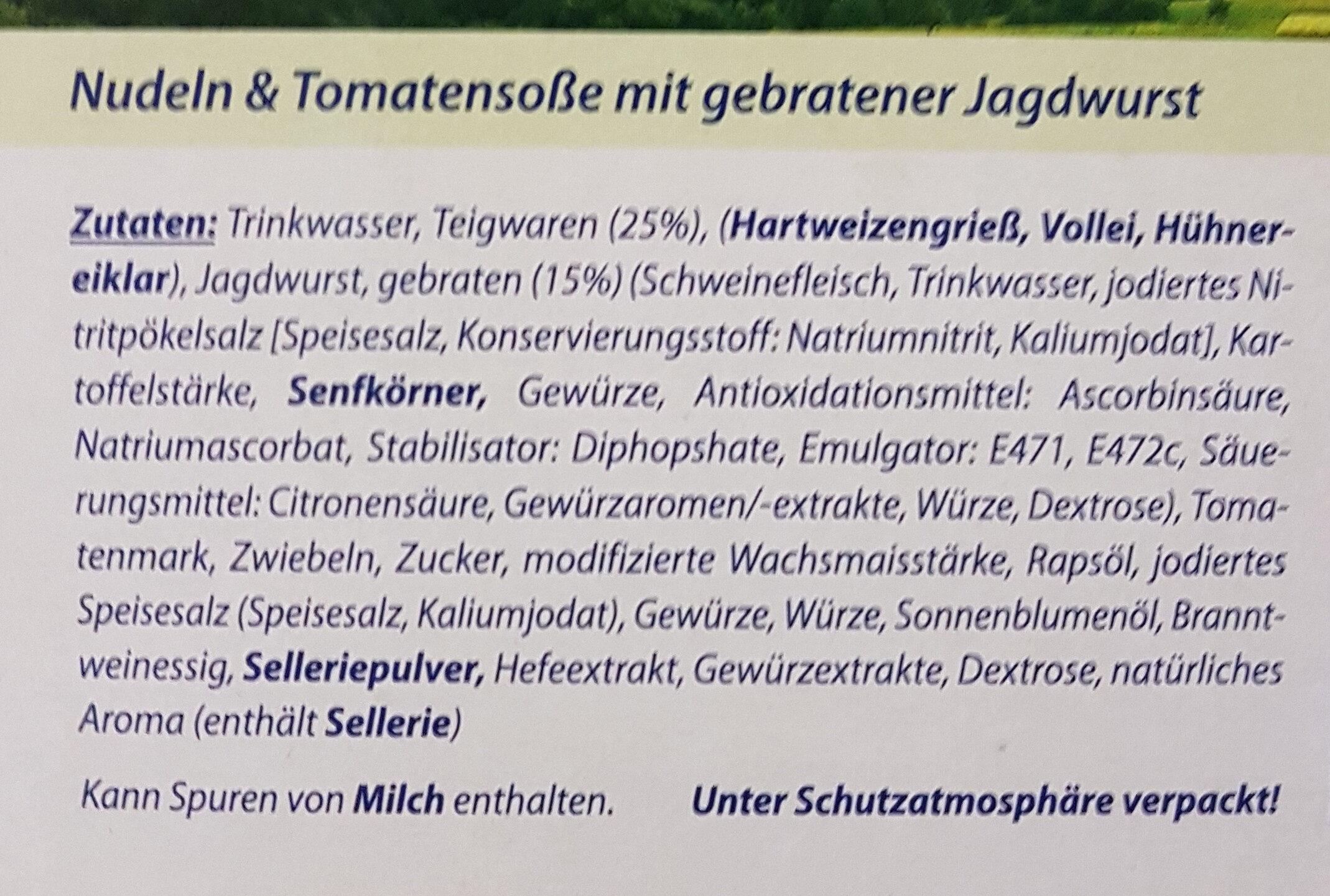 Genießerküche Nudeln & Tomatensoße - Ingrediënten - de