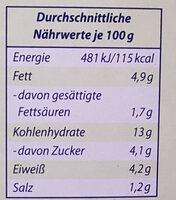 Genießerküche Nudeln & Tomatensoße - Voedingswaarden - de