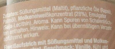 Protein White Choc - Ingredients