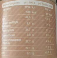 Protein White Choc - Nutrition facts