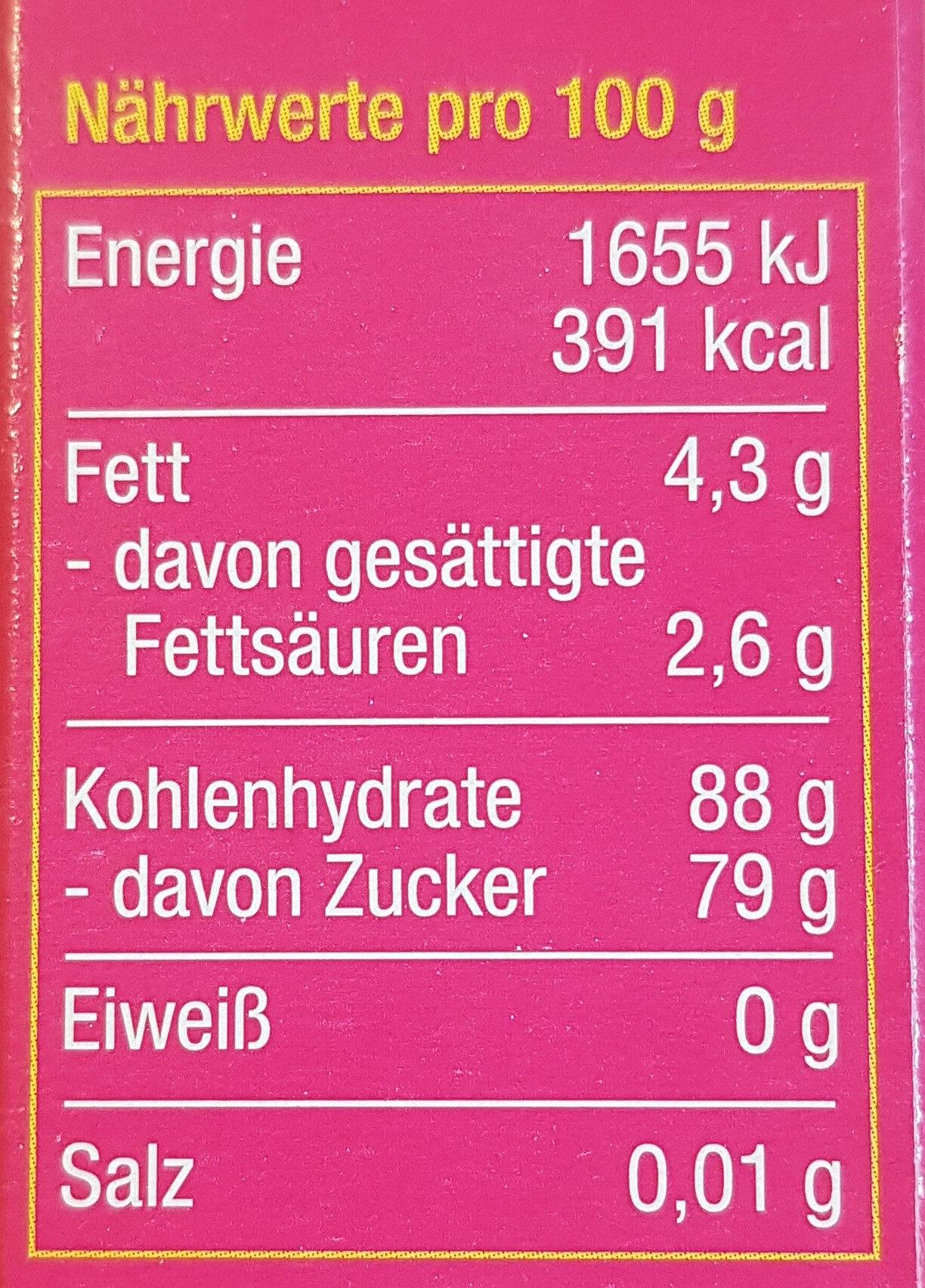 Fondant - Nutrition facts