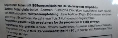SOY-PRO ISOLATE - Ingredients - de