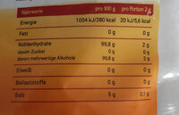 xylit - Nährwertangaben - de