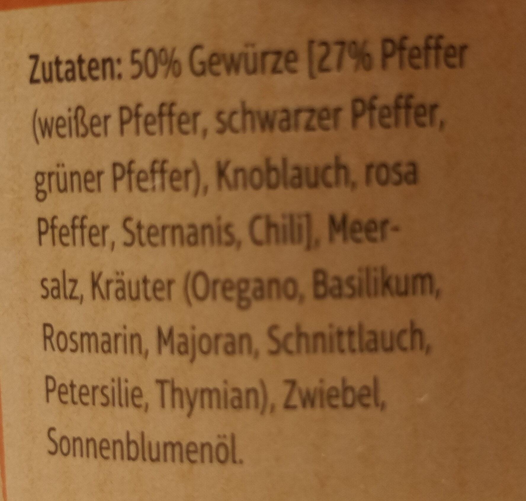 Gewürz-Pfeffer - Zutaten - de