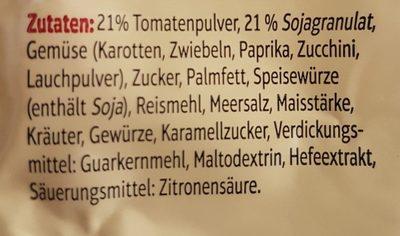 Sauce bolognaise - Inhaltsstoffe
