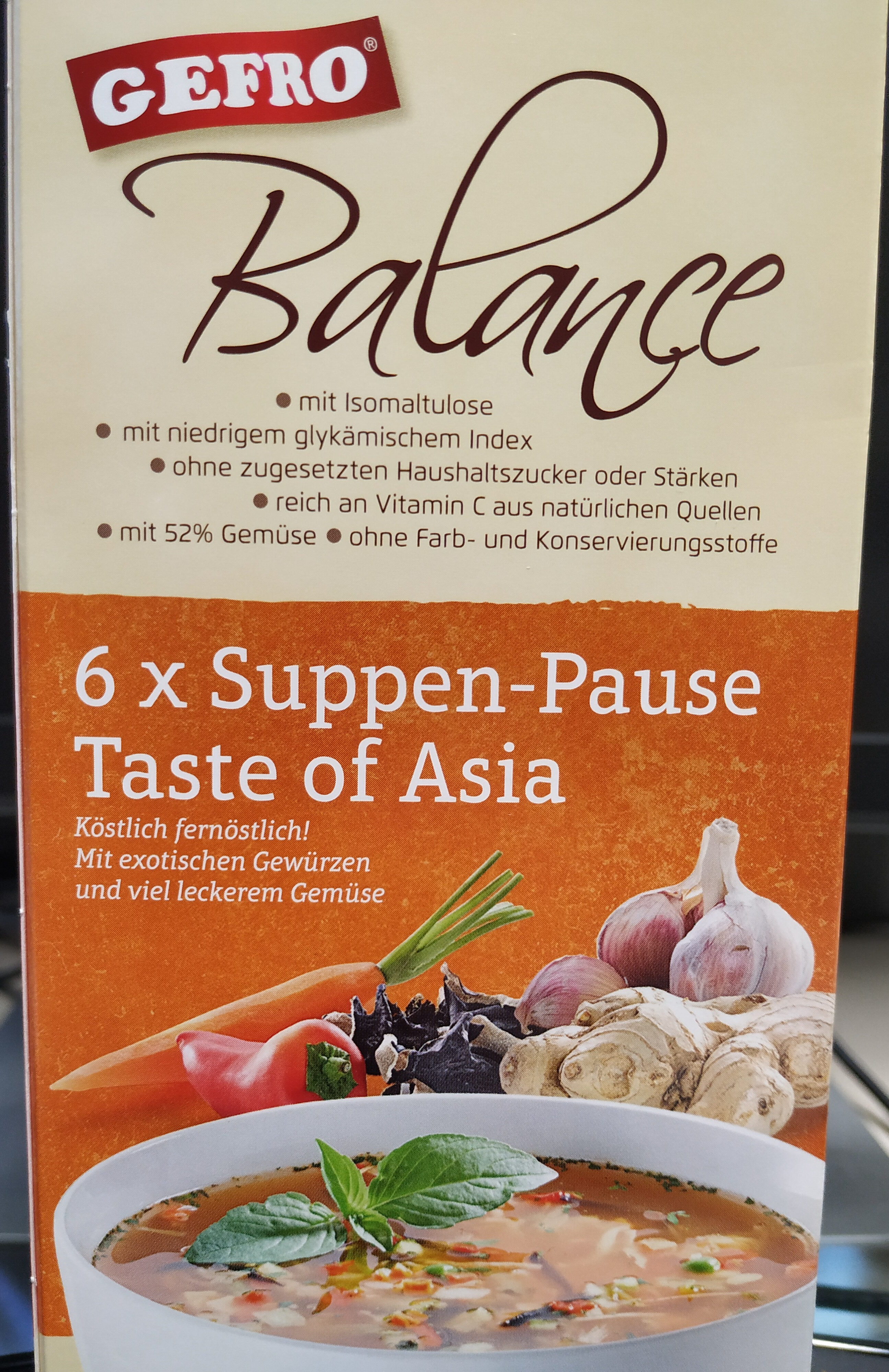 Balance 6 x Suppen-Pause Taste of Asia - Produit - de