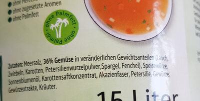 Gemüsebrühe Pur - Zutaten - de
